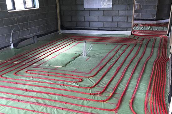 screed floors for underfloor heating